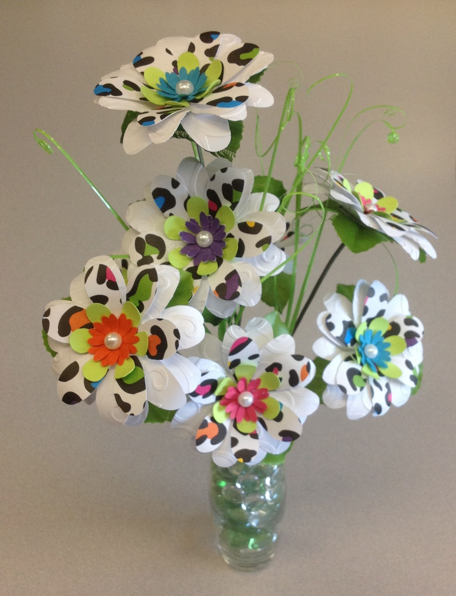 Paper Flowers Made Using The Cricut Expressions 2 Machine Flower