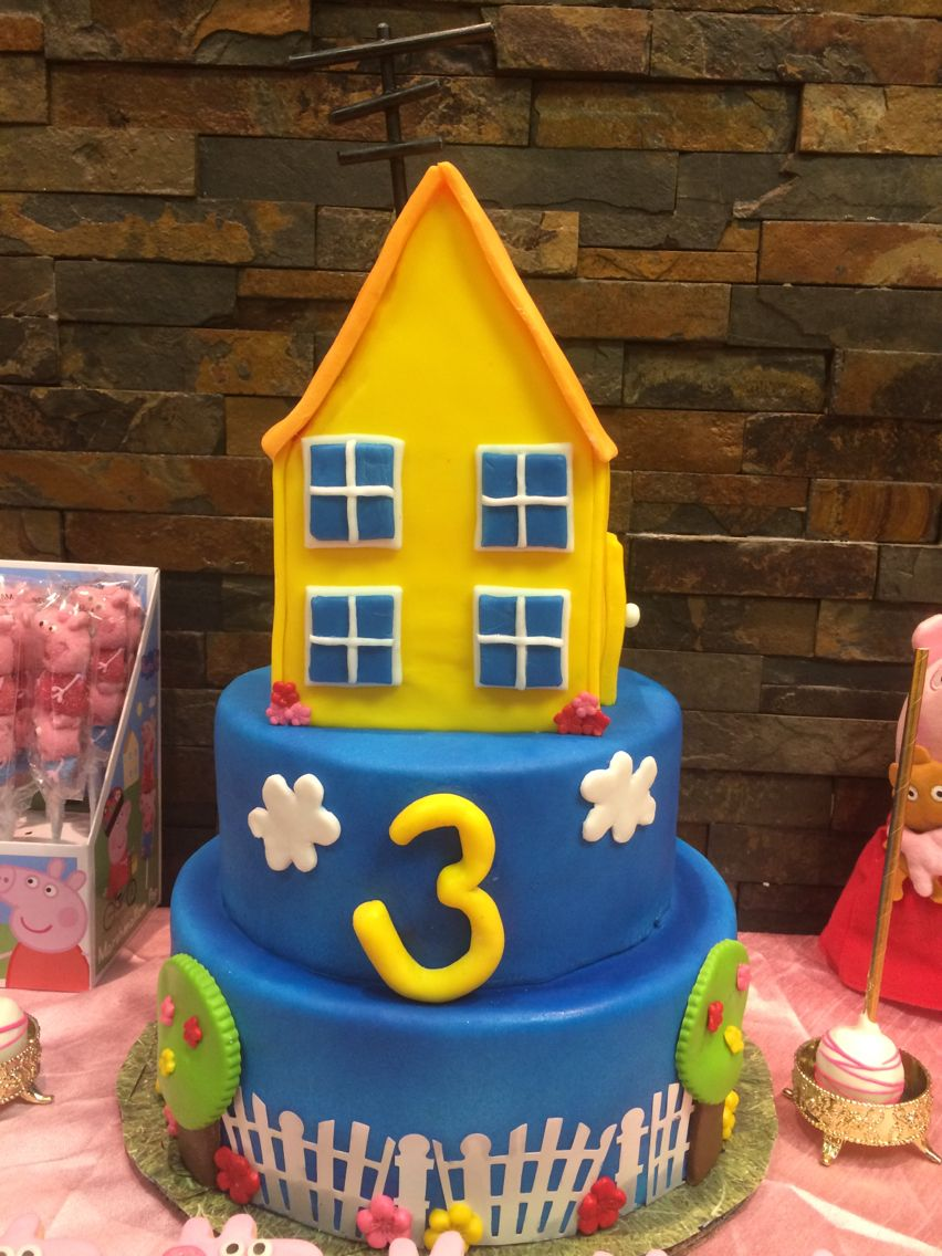 Peppa Pig themed cake (With images) | Cake decorating ...