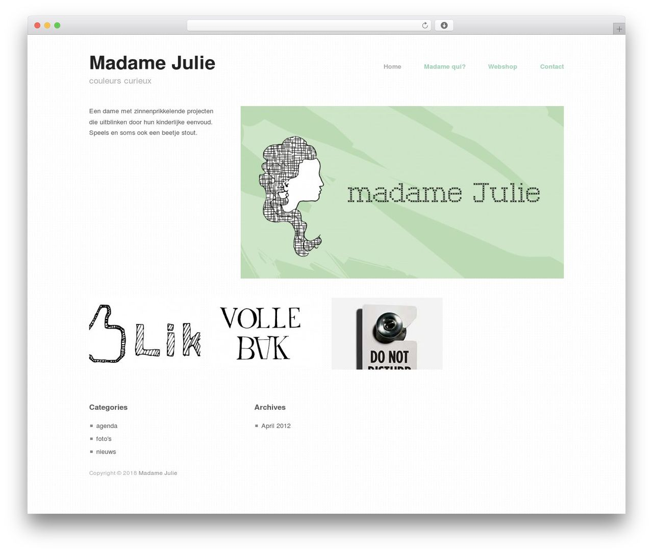 Hatch Wordpress Theme Madamejulie Com Wordpress Theme Wordpress Template Wordpress