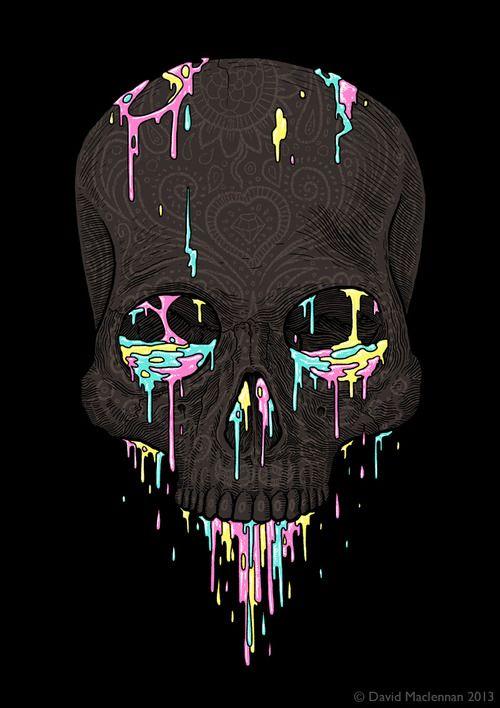 Skull illustration by David Maclennan - Skullspiration.com ...
