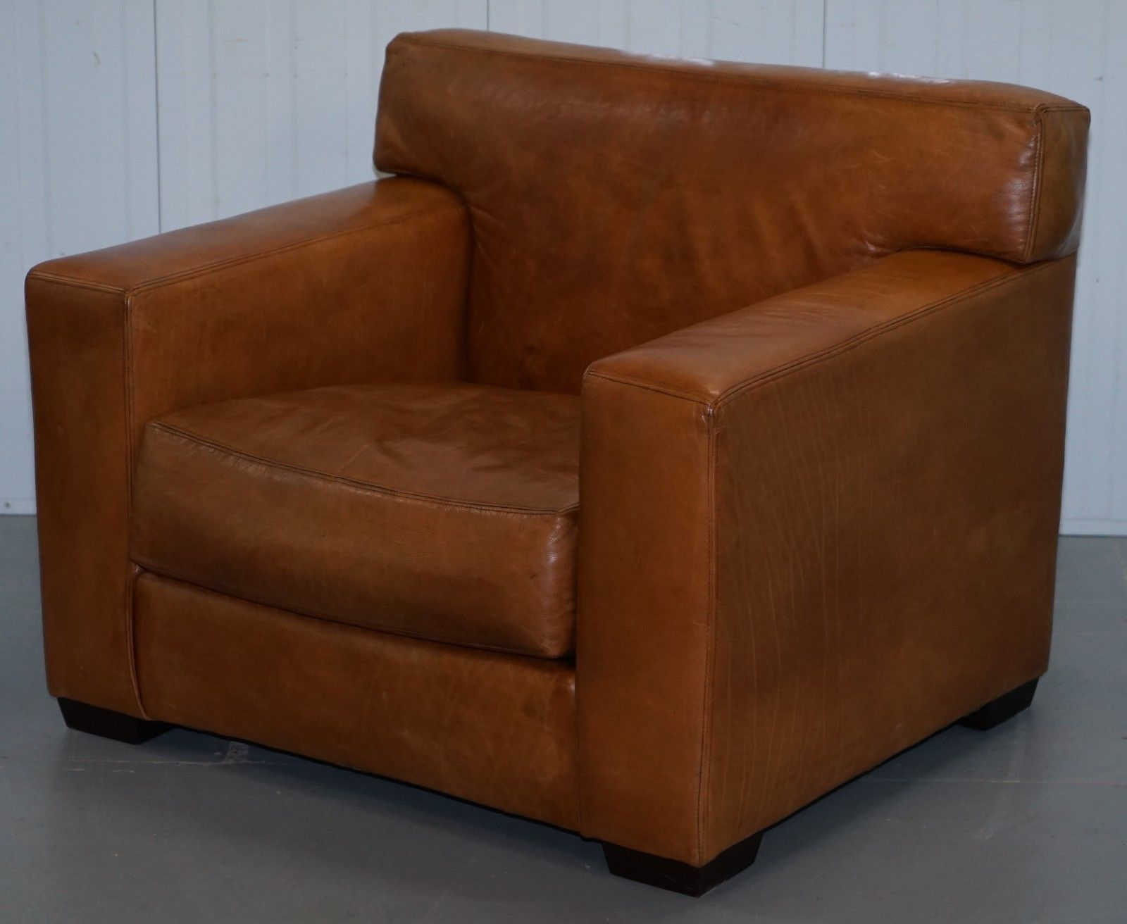 Ralph Lauren Graham Club Armchair Tan Brown Custom Buffalo Leather In 2019 Armchair Furniture Design Retro Furniture