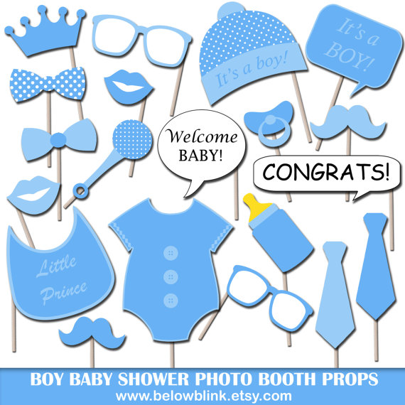 Boy Baby Shower Photo Booth Props Printable Photo Props Party