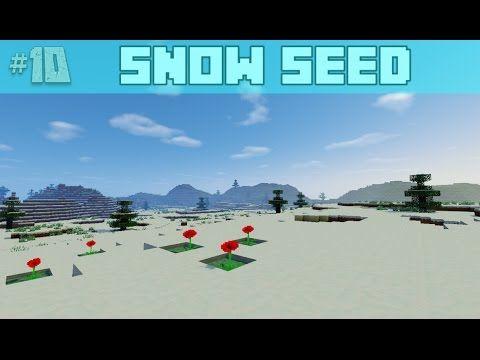 Cool Snow Plains, Dungeon, Ravine Minecraft Seed 1 8 7