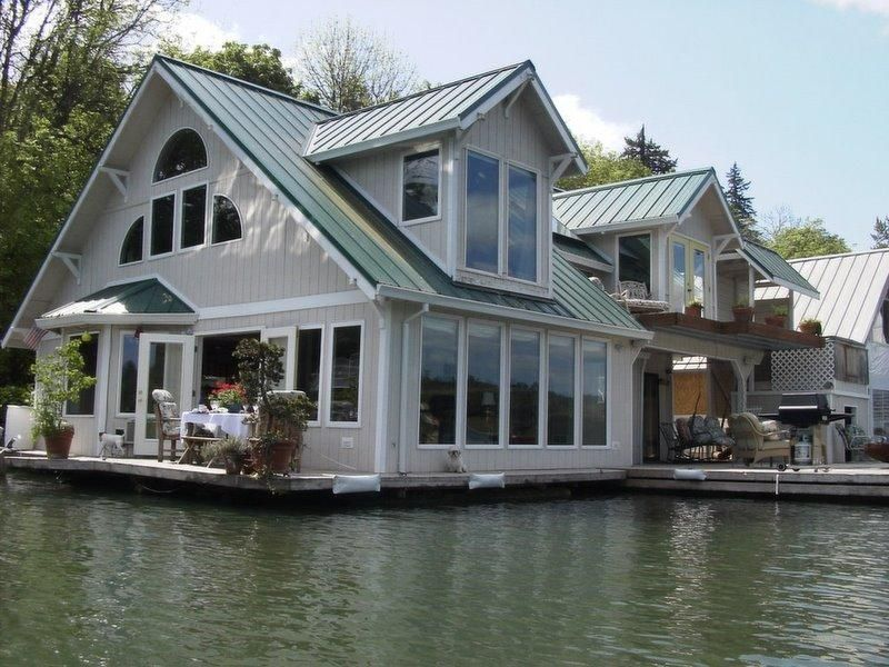 Floating home vacation rental floating house houseboat