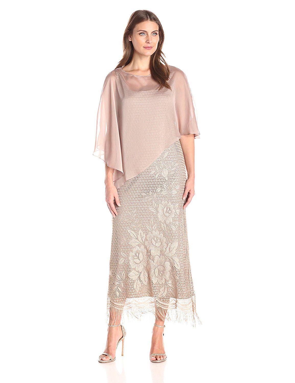 Sl sl fashion dresses - Fashion S L Fashions Women S Sheer Overlay Crochet Dress