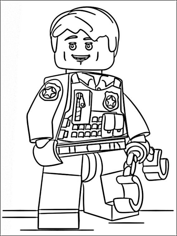 Lego Police Coloring Pages 8 | Coloring pages for kids | Pinterest