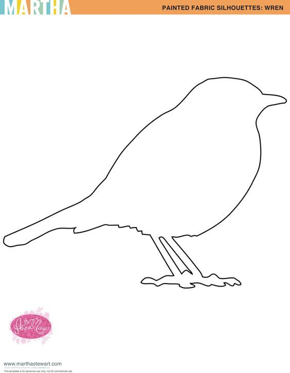 BIRD OUTLINE carrying twitter bird templates for kids can either