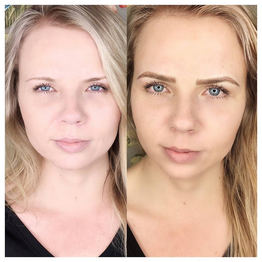 Natural microblading for blondes. Instagram @ace.made ...