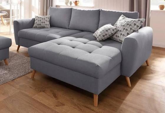 Ecksofa grau tief wohnzimmer polsterecke wohnzimmer und m bel for Wohnungseinrichtung kaufen