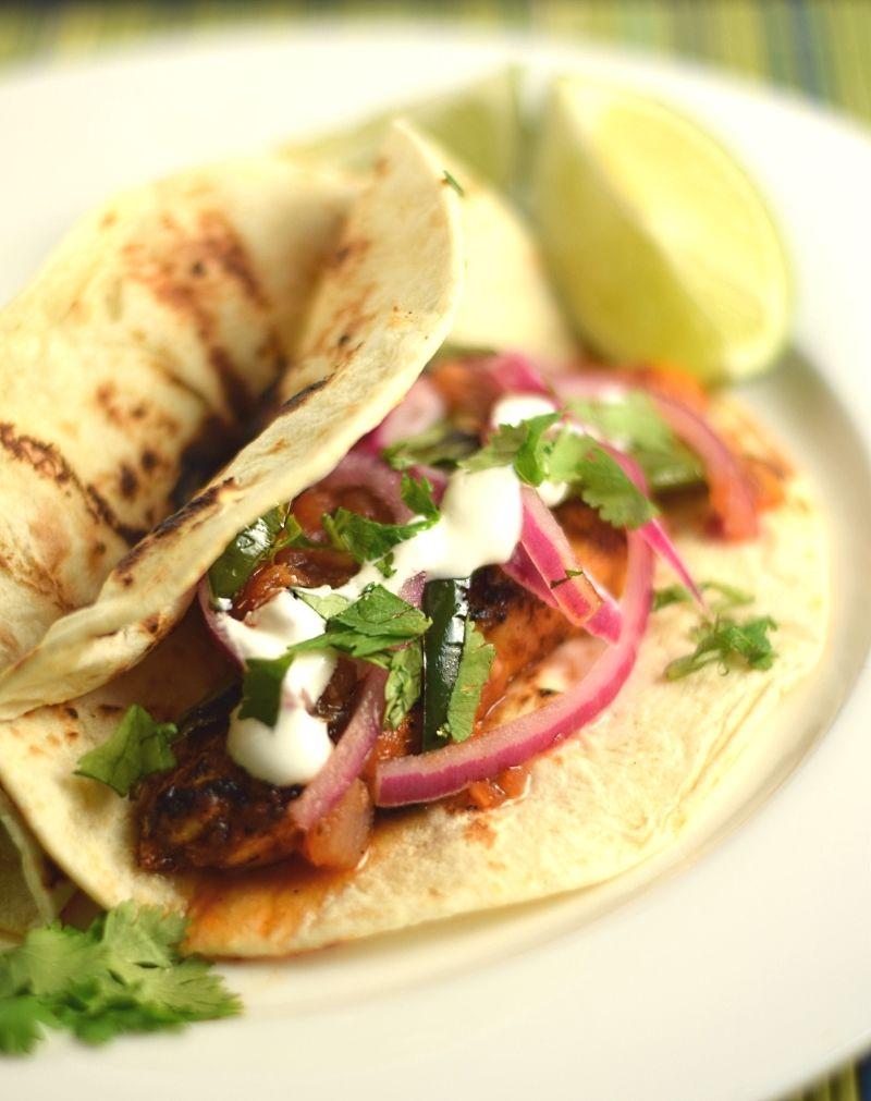 Cilantro Lime Chicken Tacos Recipe - Fox Valley Foodie #chickentacorecipes