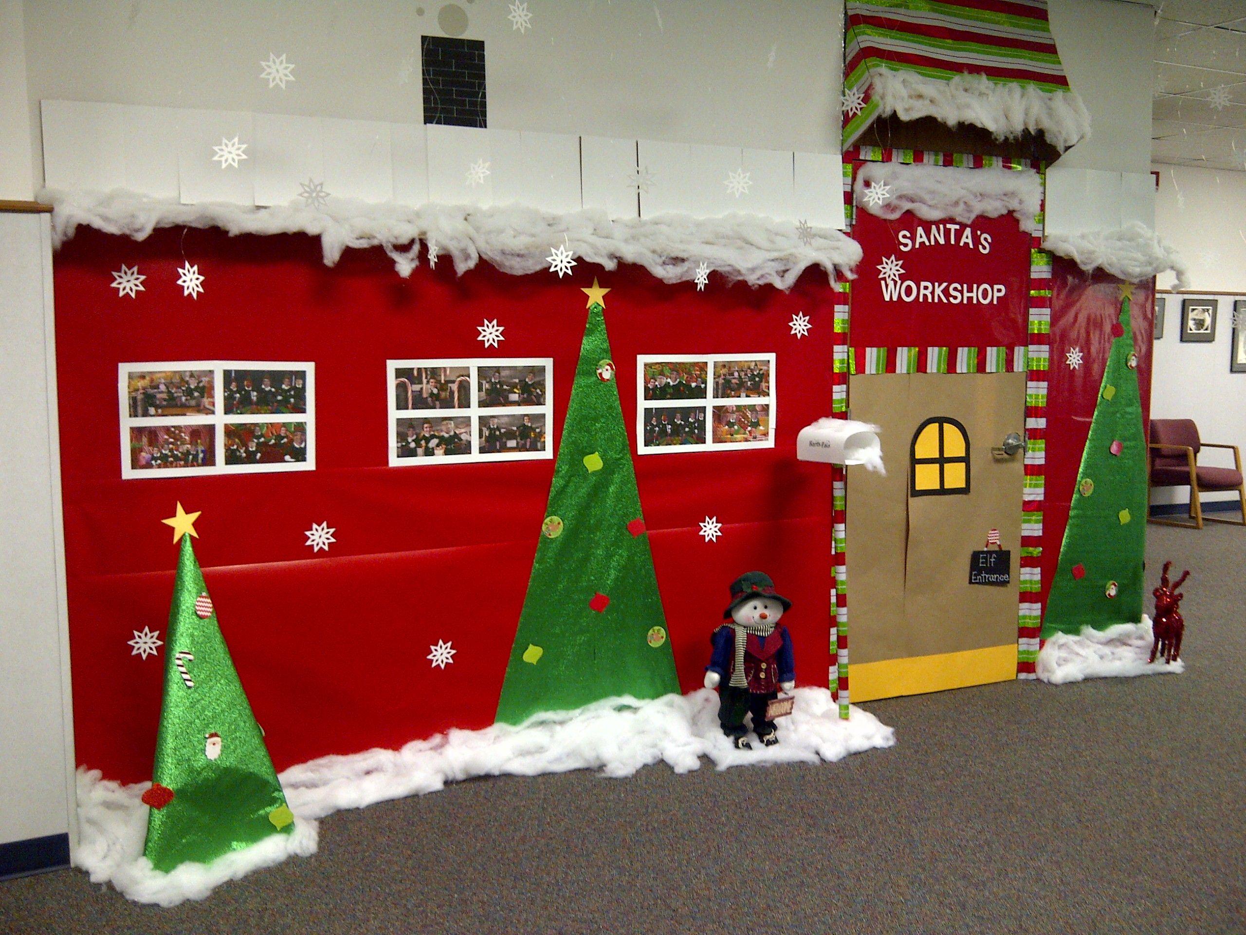 Santa's Workshop door decorations or rather wall ...