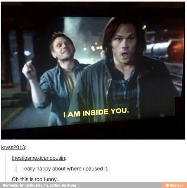 LOL Supernatural Satan and Sam. :)