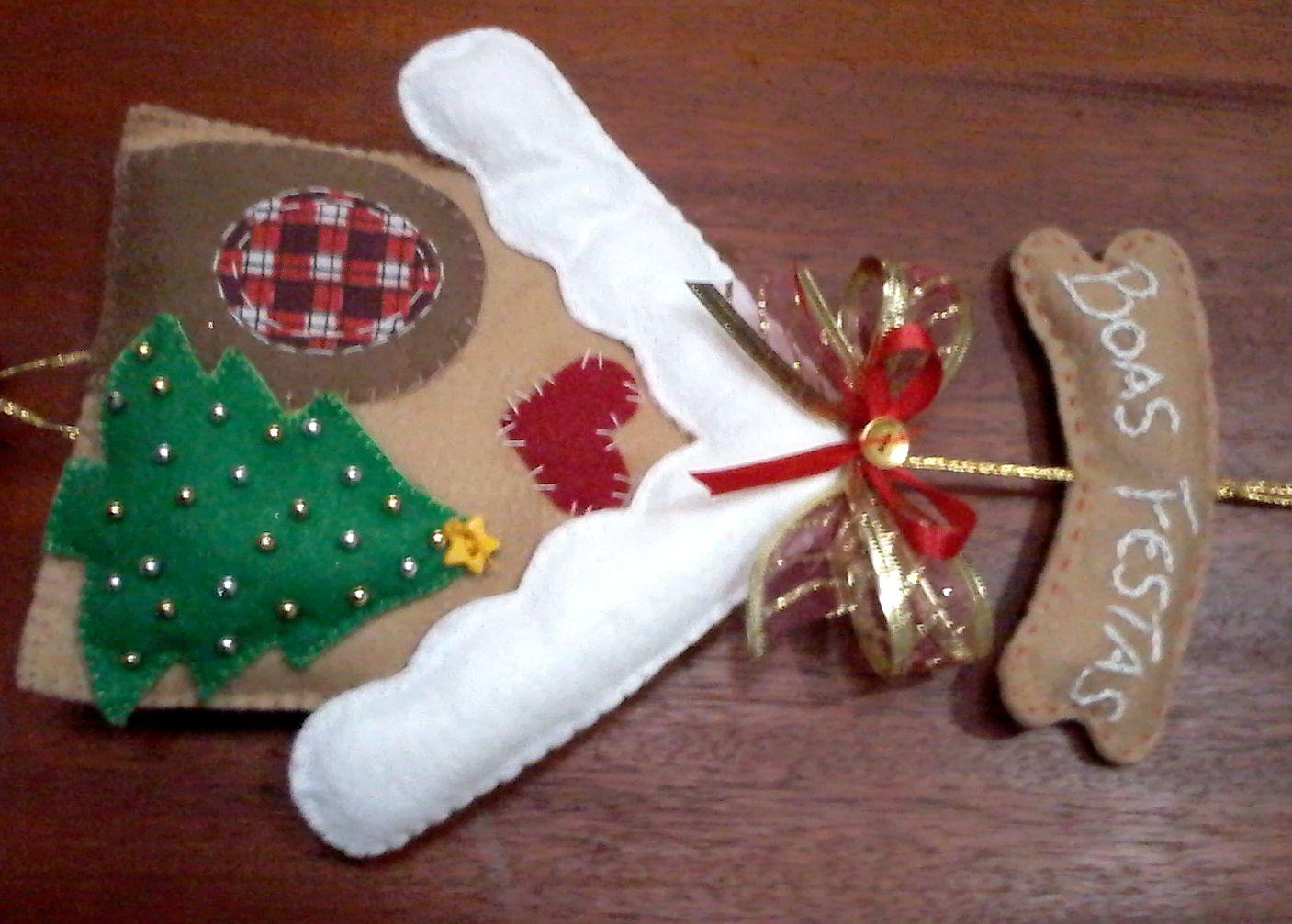 Resultado de imagem para casinha de natal em feltro | Natale | Pinterest