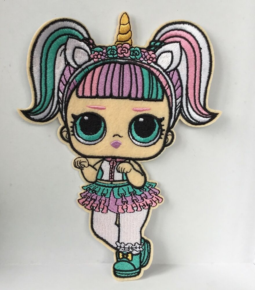 """1 Pcs LOL surprise doll Cartoon embroidery patch SEW IRON on around 4.75/""""x2.25/"""""""