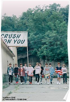 Wanna Oneㅣ1st Mini Album Photo 워너원의 데뷔 앨범 1X1=1 (TO BE ONE) Energetic BTS  Poster by WANNA-ONE AND IZ*ONE SHOP