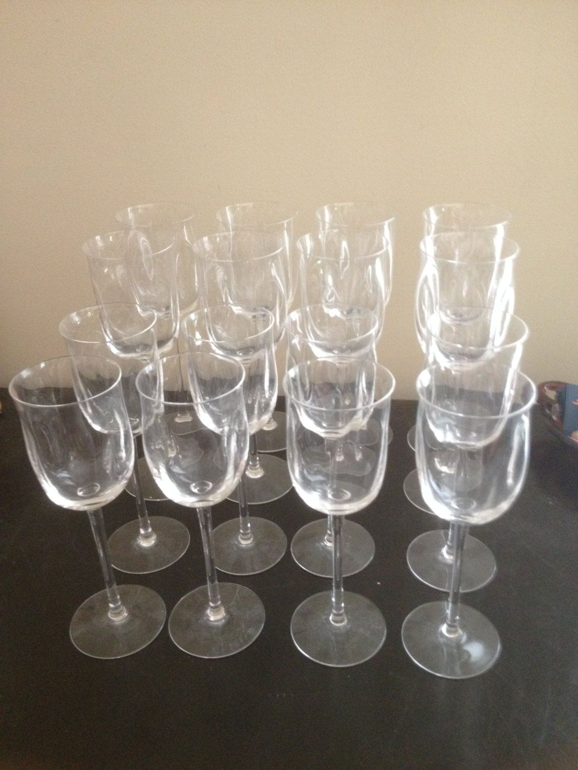 Set of 24 Wine And Champagne Glasses by MelsEstateSale on Etsy