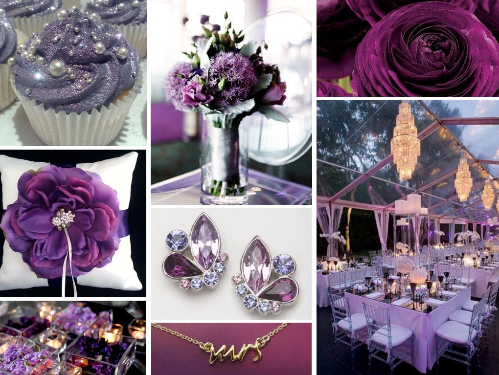 purplelicious Purple wedding Indoor wedding and Purple