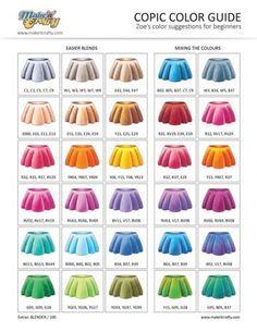 copic-colour-guide-coloured-sml | Copics | Pinterest | Copic, Copic ...