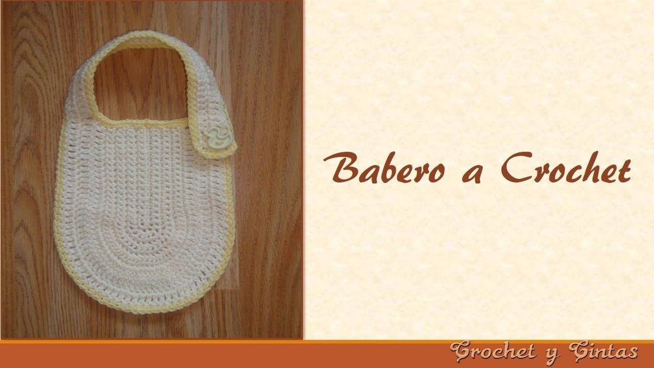 Babero tejido a crochet   Crochet   Pinterest   Baberos para bebe ...