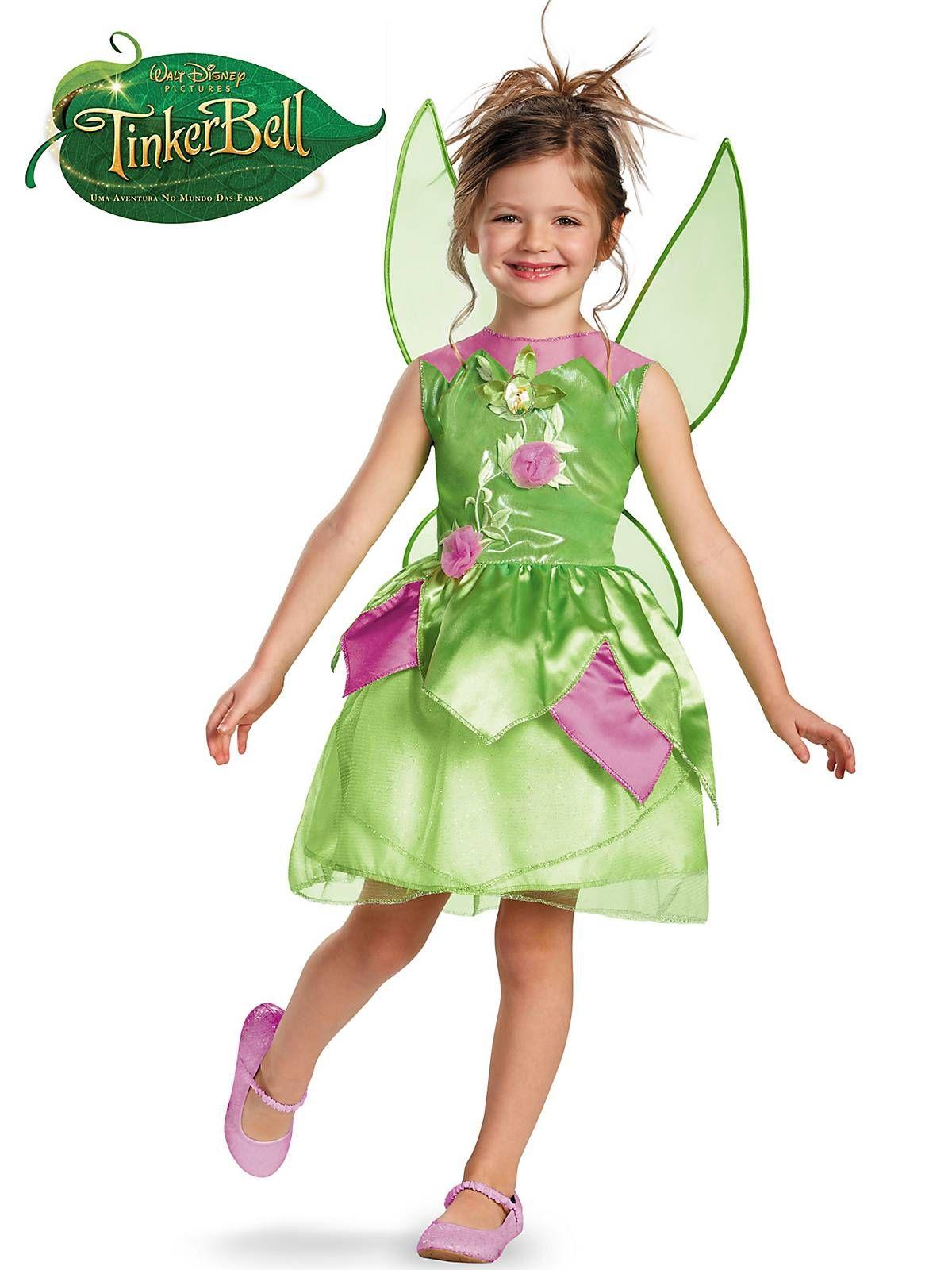Toddler Tinkerbell Costume | Girls Disney Halloween Costumes  sc 1 st  Pinterest & Toddler Tinker Bell Classic Costume | Pinterest | Disney halloween ...