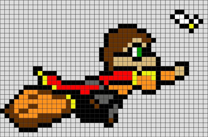 Harry Potter Quidditch Pixel Art Pixel Art Minecraft