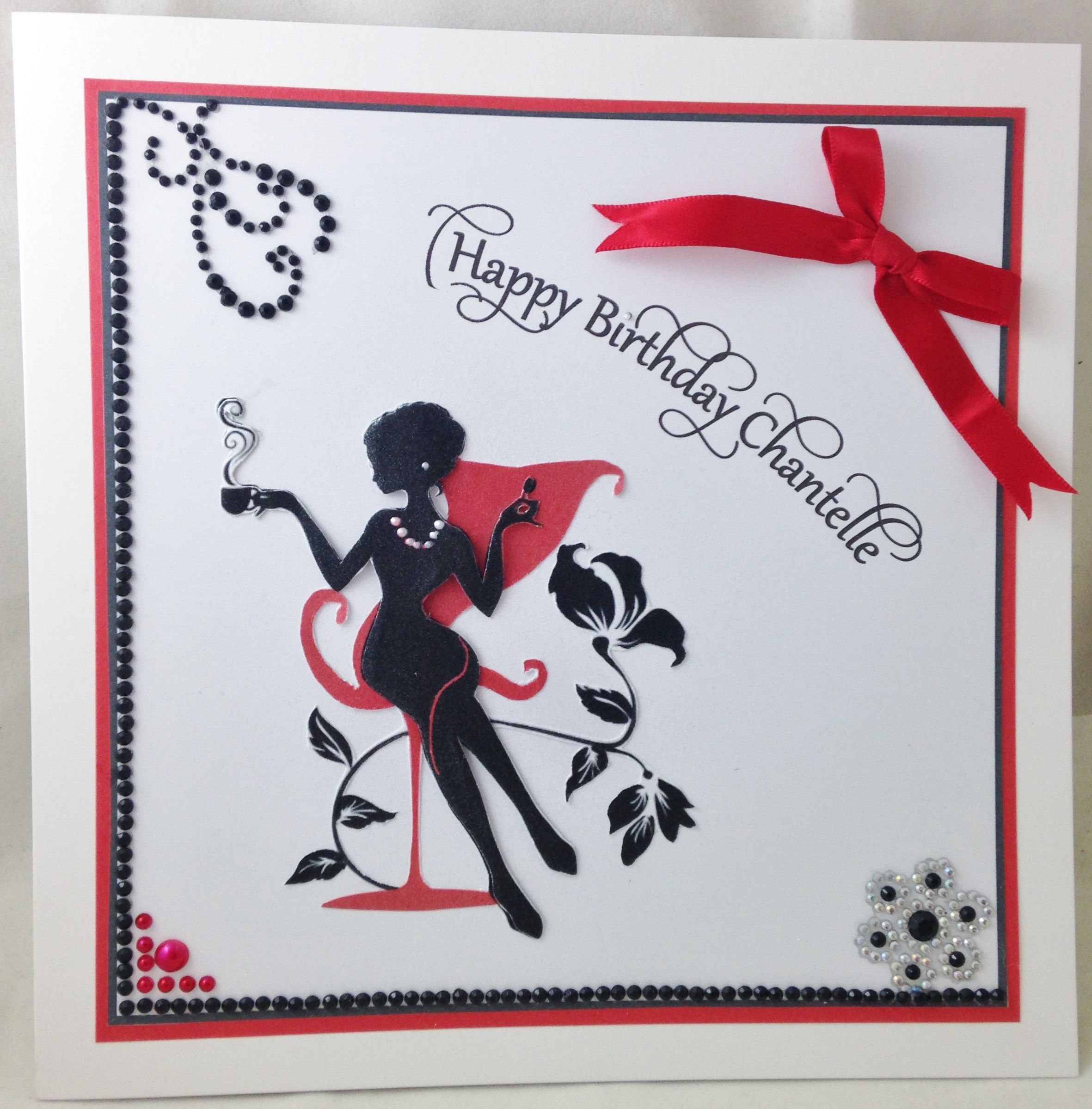 red and black with images  cards handmade cards happy