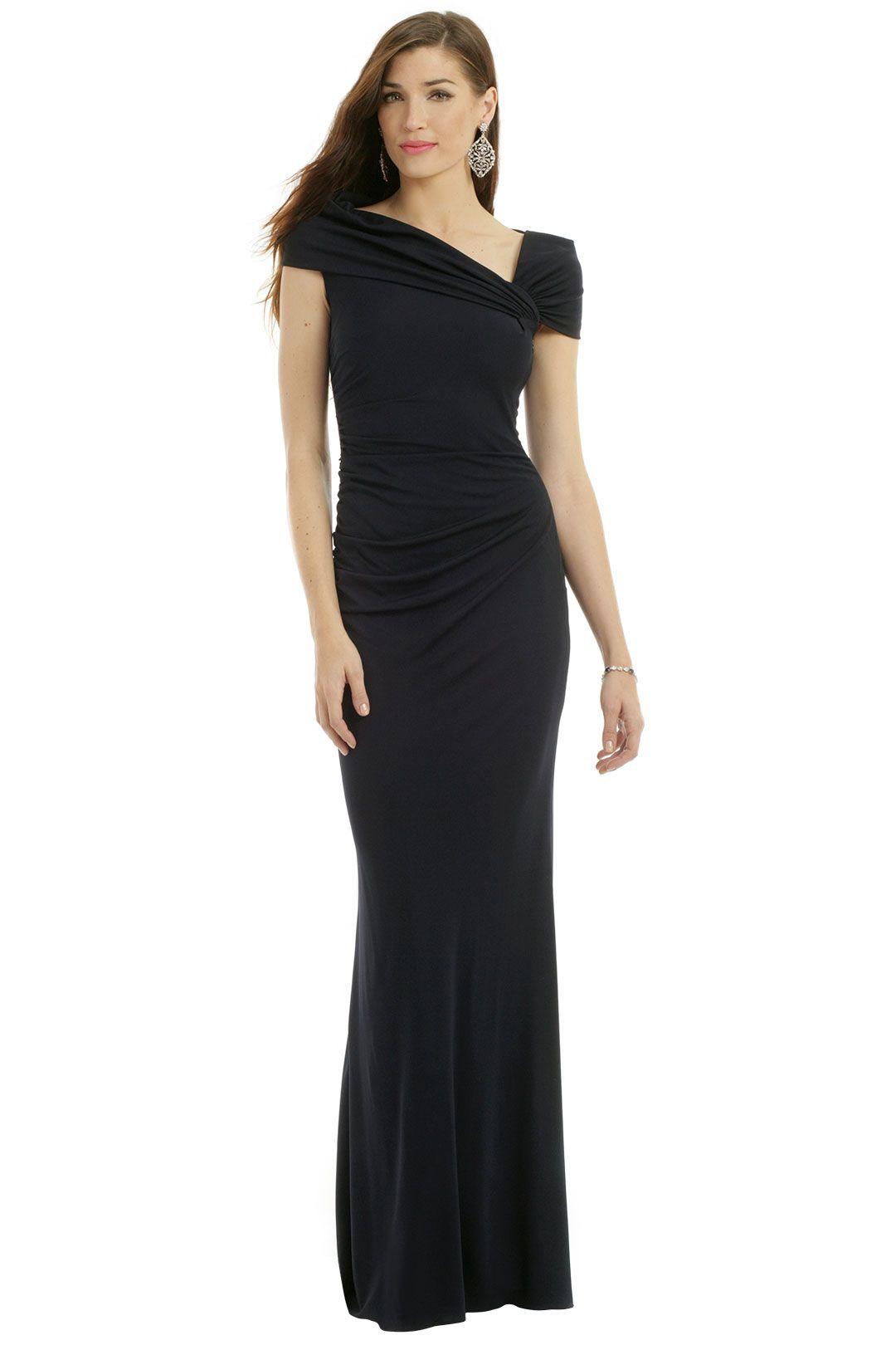 Black tie style badgley mischka of divine nature gown wedding