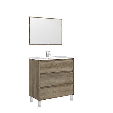 Meuble de salle de bain 80 cm BORA BORA Chêne Nouveautés du