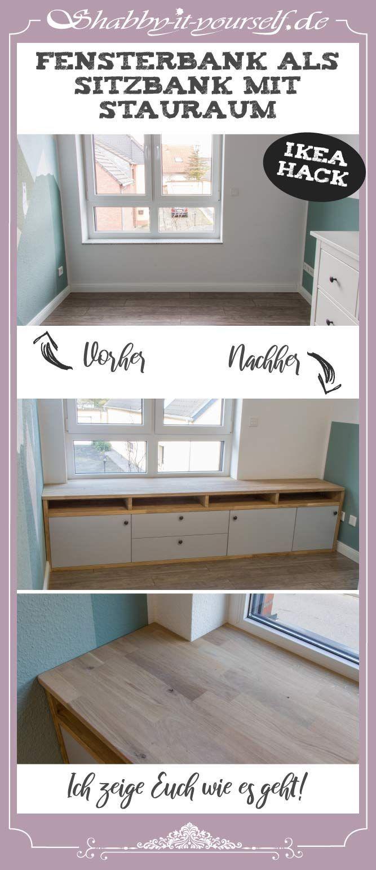 Sitzbank mit Stauraum vor Fensterbank bauen – Ein IKEA Hack