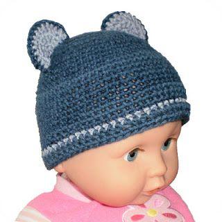 Little Bear Baby Hat - Free crochet pattern squishychocolate.blogspot.com.au