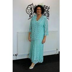 Ann Balon Simona Aquamarino Dress  and Jacket
