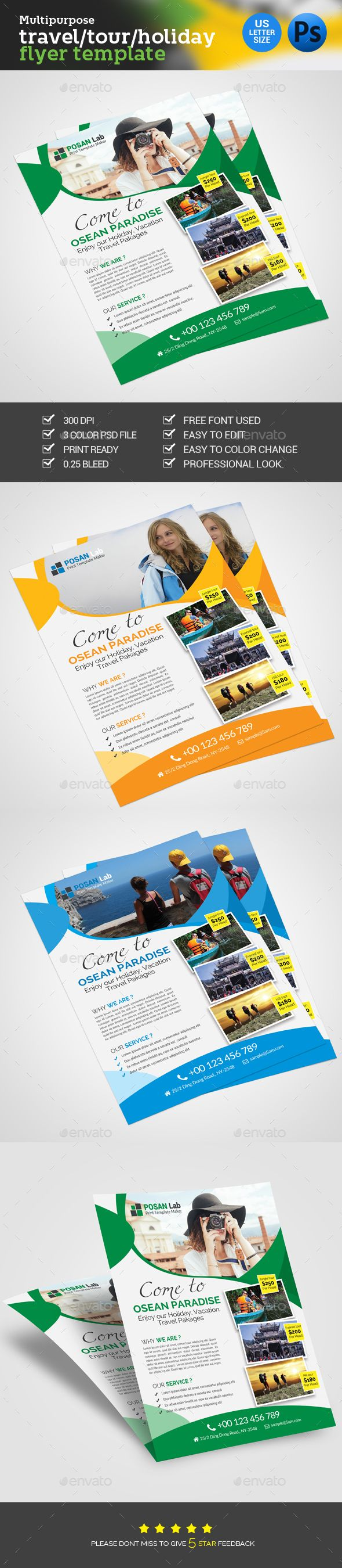 holiday travel flyer flyers flyer template and print templates holiday travel flyer template psd design graphicriver net