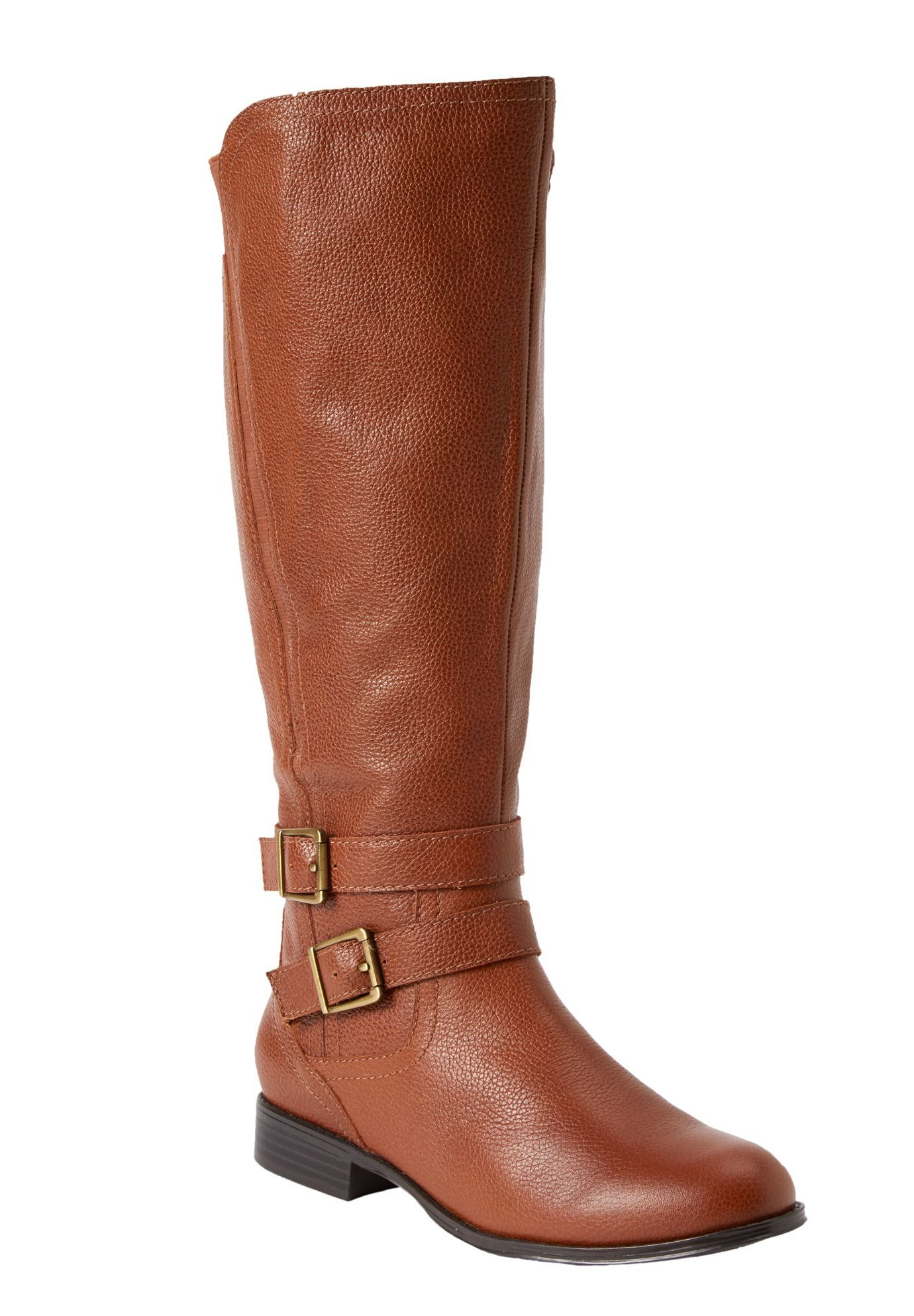 b283fe95027 Plus Size Gem Tall Leather Wide Calf Boots 11w 17-19
