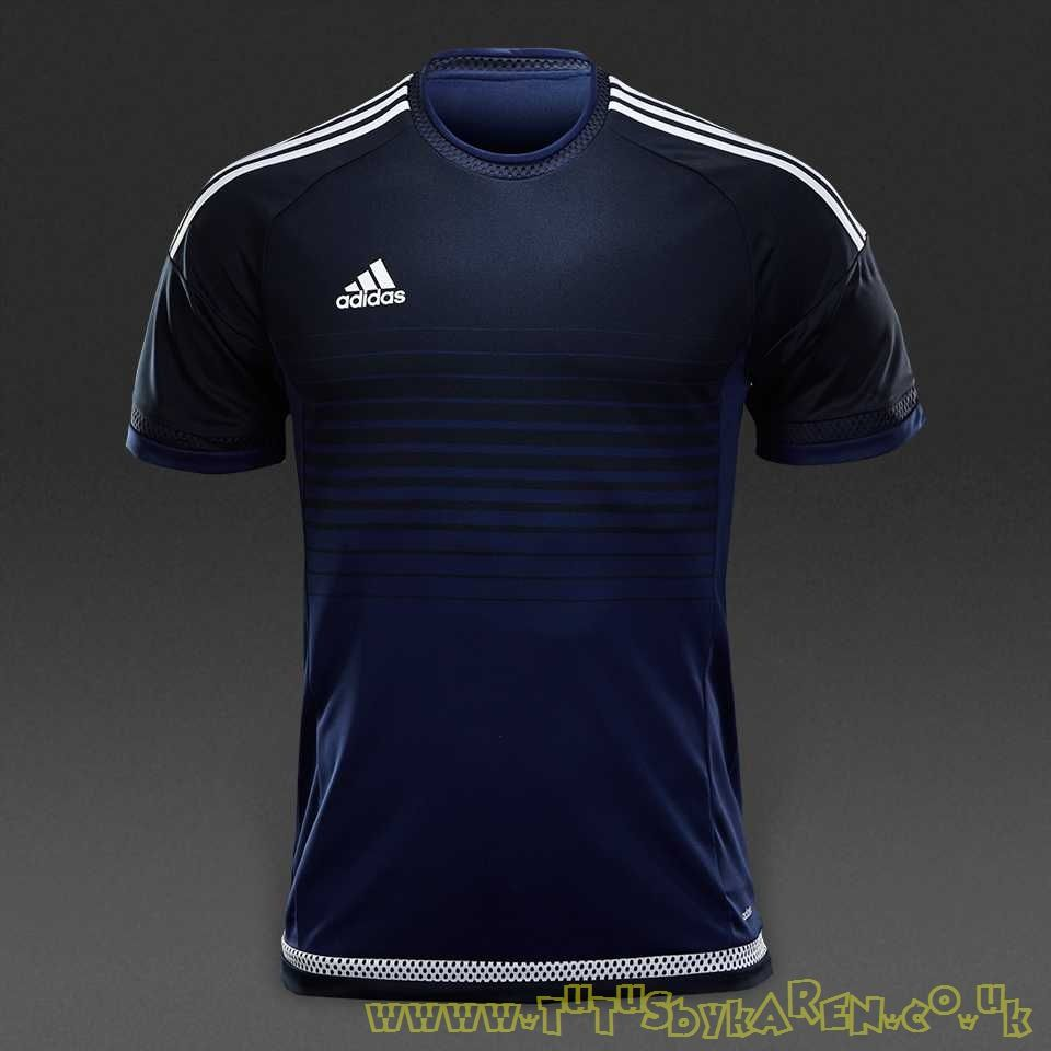 ADIDAS MEN CAMPEON 19 Shirts SS Soccer Jersey Black Blue