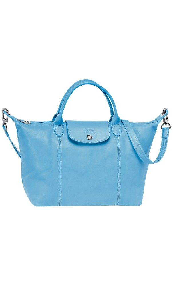 Longchamp Le Pliage Cuir Medium #Handbag Blueberry #bags