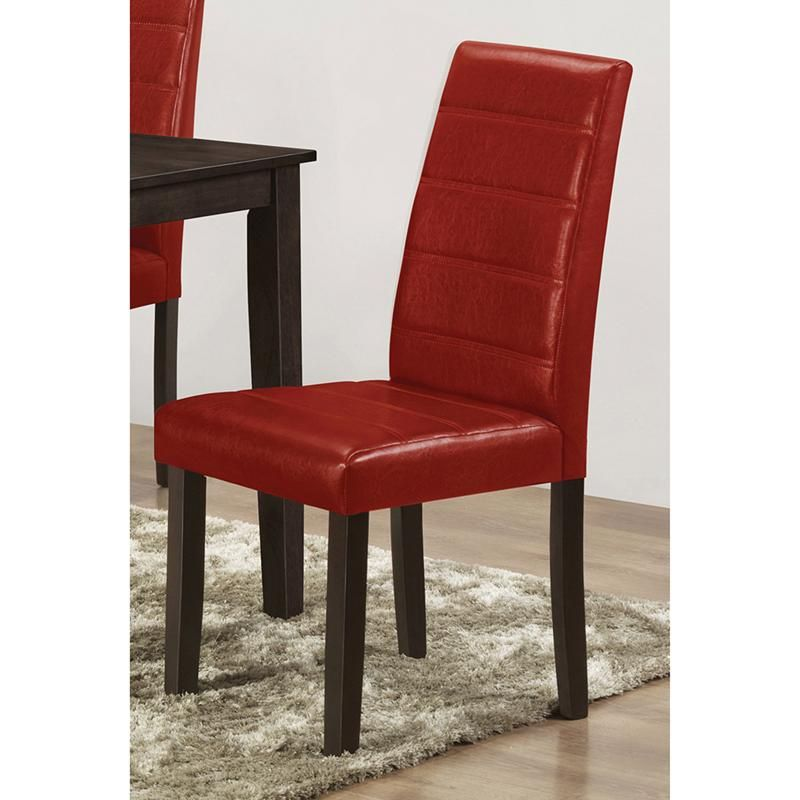 "Red Leather Dining Room Chairs: Brassex Santiago Faux Leather Dining Chair 17"" X 22"" X 38"