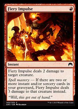 Fiery Impulse From Magic Origins Spoiler The Gathering Mtg Magic The Gathering