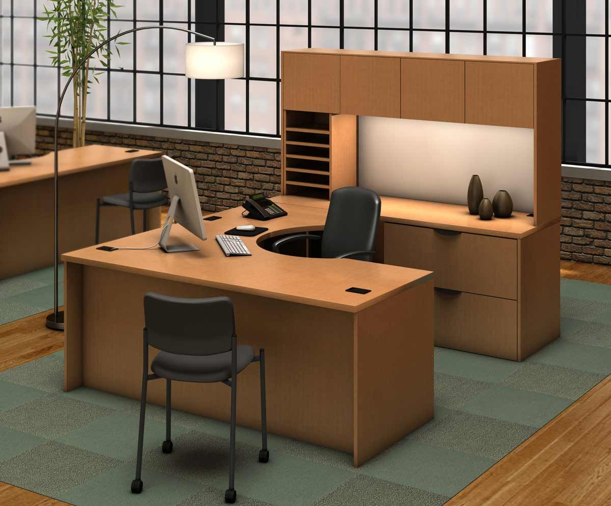 desk workstation small shaped hutch home white office with computer compact sauder l desks executive corner modern