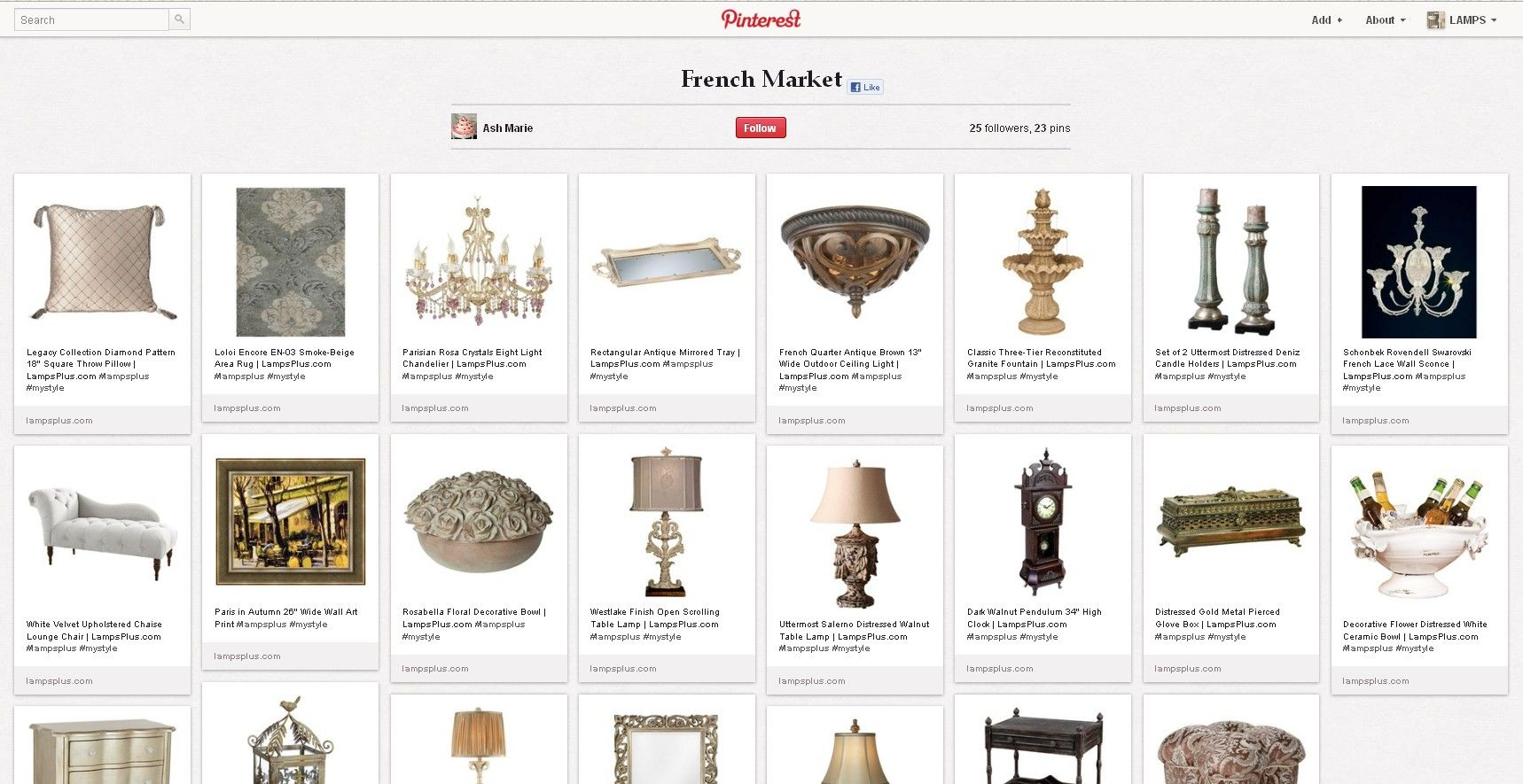 [Finalist] We're loving Ash's French Market Style. Repin this pin to vote! Her entry: http://pinterest.com/candygurl88/french-market/