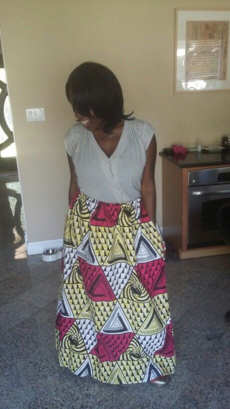 Ankara skirt sewn by me