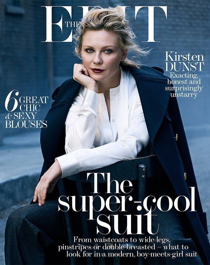 b461e8cf13b8 Kirsten Dunst Channels Androgynous Hollywood Icons for The Edit via   WhoWhatWear Gossip