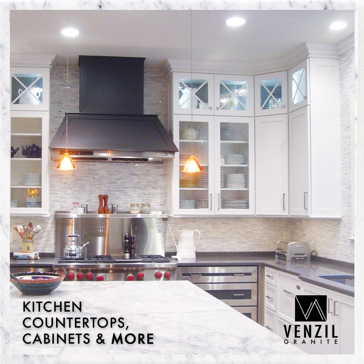 Venzil Granite Do It All When It Comes To Creating Designing And Installing Custom Natural Stone Cou Natural Stone Countertops Countertops Kitchen Countertops