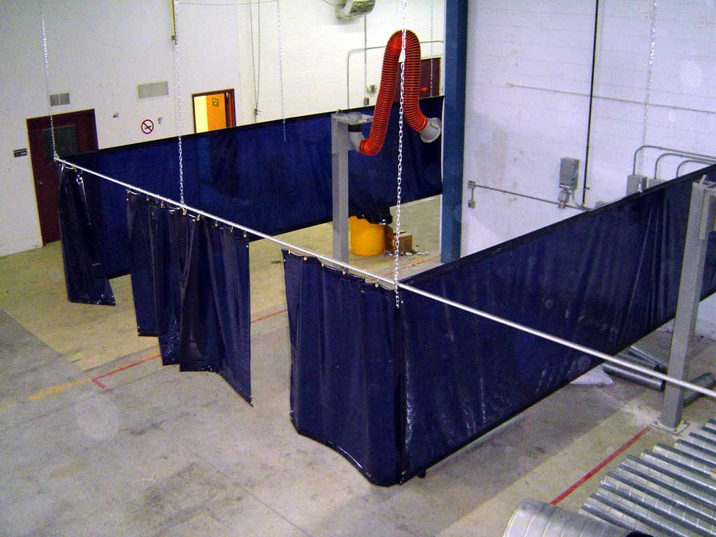 Curtain Transparent Red Blue Curtain With Plastic Base From Welding Curtains For Dividing Room