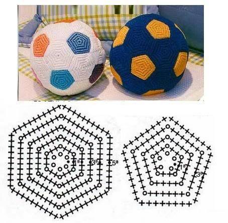 ༺ ✿ football garçons / jouer / loisirs crochet ✿ ༻ leuke bal haken   – ⬛ Sport / Spiel und Fußball ⚽