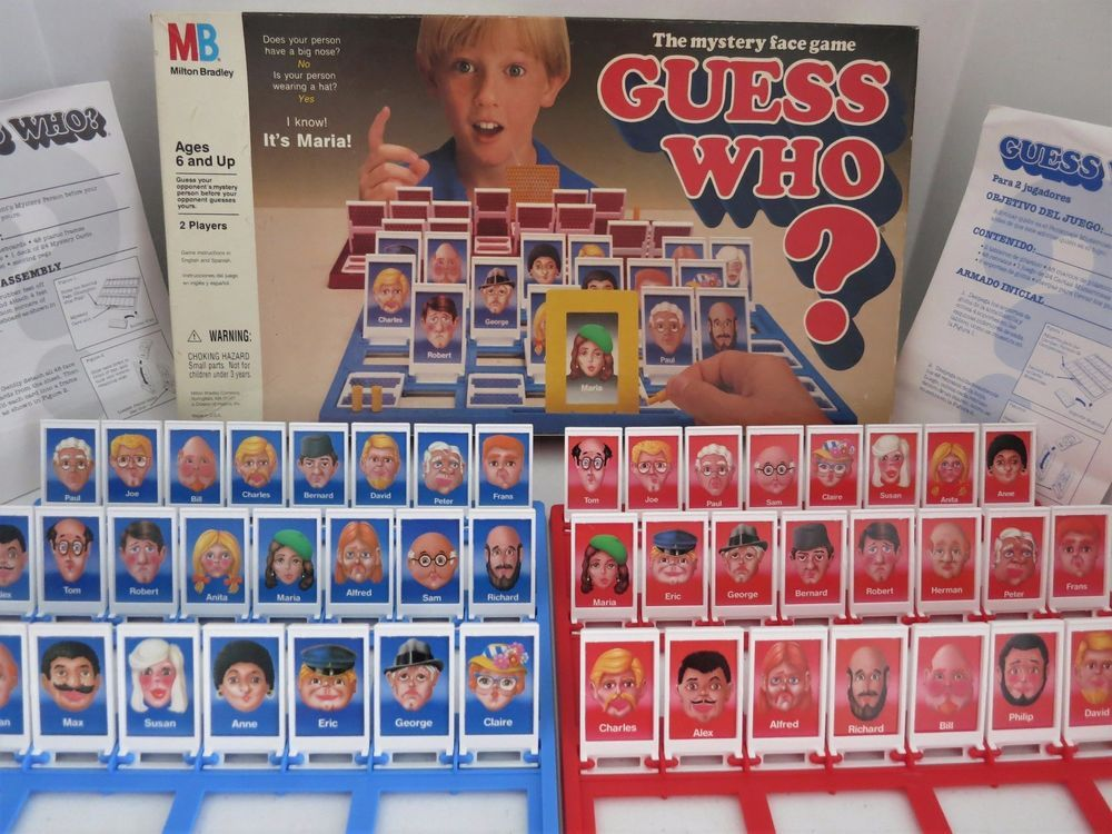 Vintage Guess Who ? Board Game Mystery Face Milton Bradley
