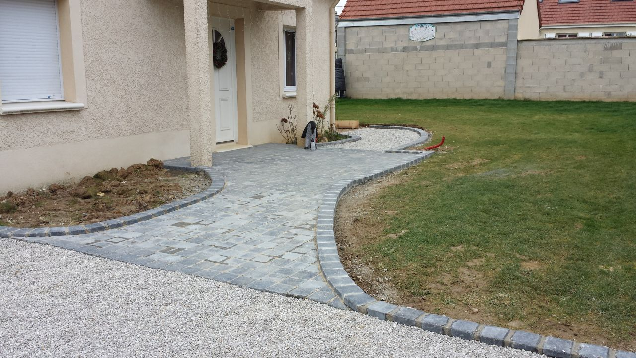 Perron et all e en pav termin e id e all es ext rieur for Pave decoration exterieur