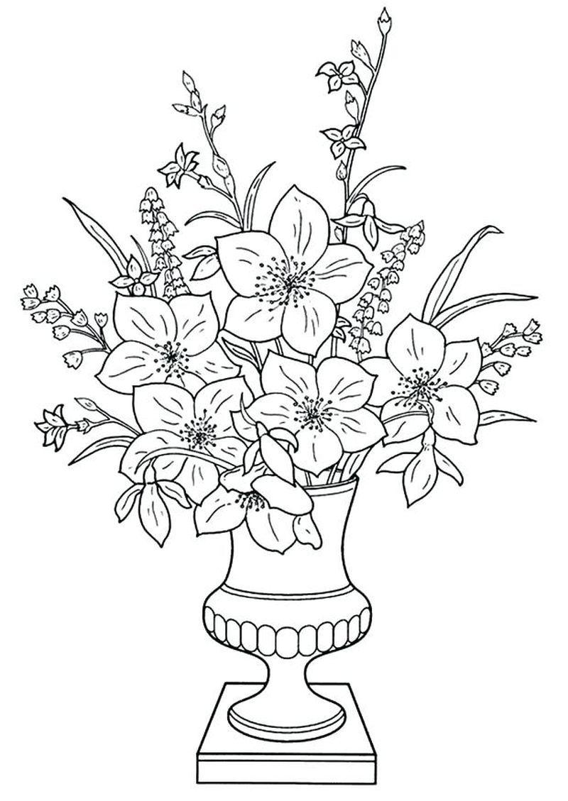 Ausmalbilder Blumen Kostenlos  Malvorlagen, Malvorlagen für