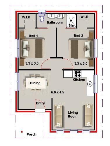 New Floor Plans 2 Bedroom Granny Flat Small House Floor Plans Tiny House Floor Plans 2 Bedroom House Plans