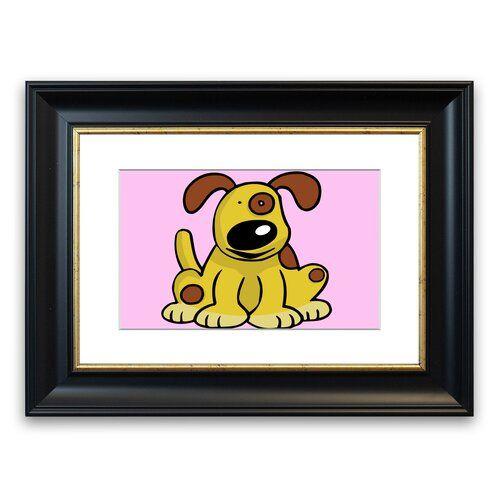 Photo of East Urban Home Framed Dog Print in Pink | Wayfair.de