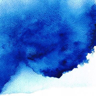 Blue Watercolor Art Print